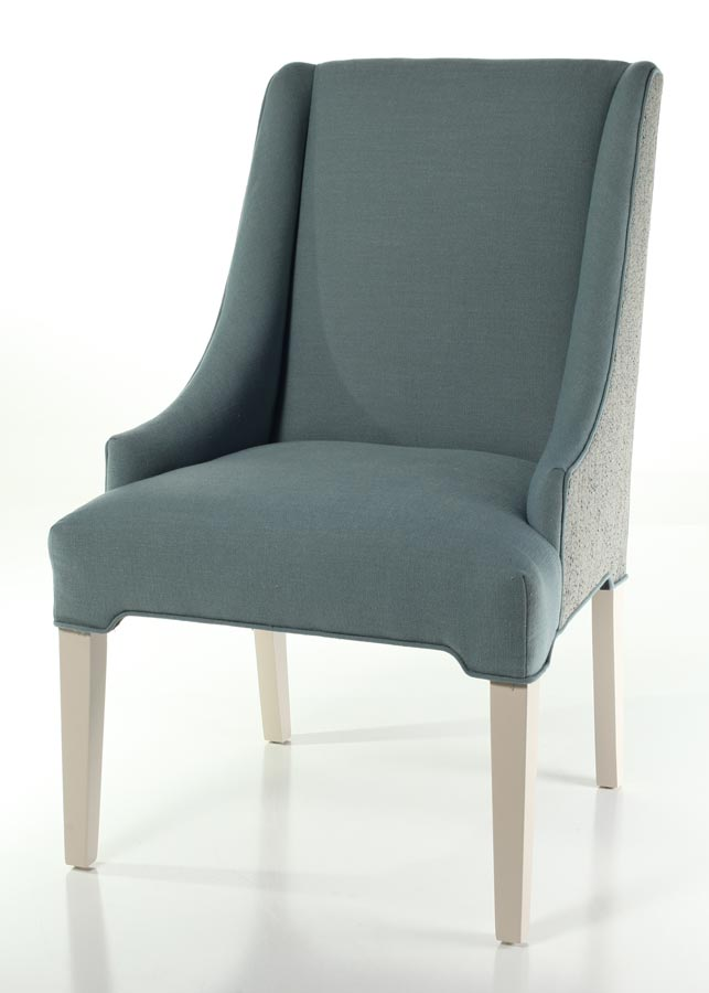 A Customer Sent In This Amazing Silver Vinyl To Give This Straight Back Dining  Chair A Modern Makeover.