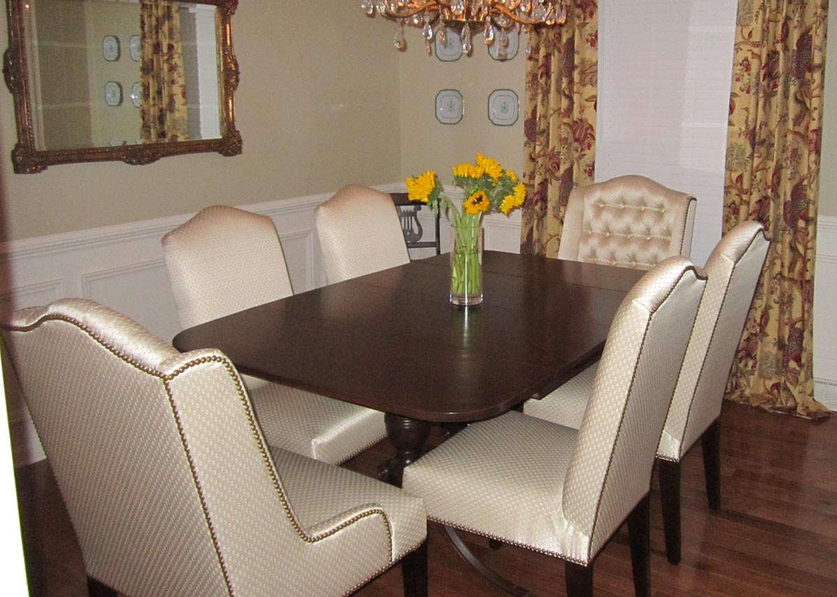 Wonderful Four Pamlico Parsons Chair Used On The Sides With Two Heavily Modified  Norwalk Chairs Used At The Table Ends. The Norwalks Were Modified By  Removing The ...