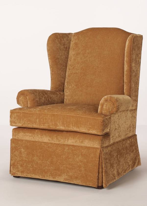 Byron Skirted Wing Chair