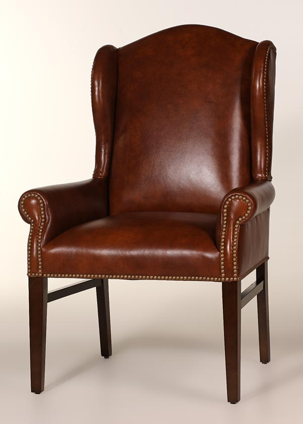 Hemingway Leather Wing Chair