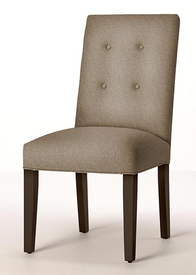 Button Back Dining Chair with Tapered Legs