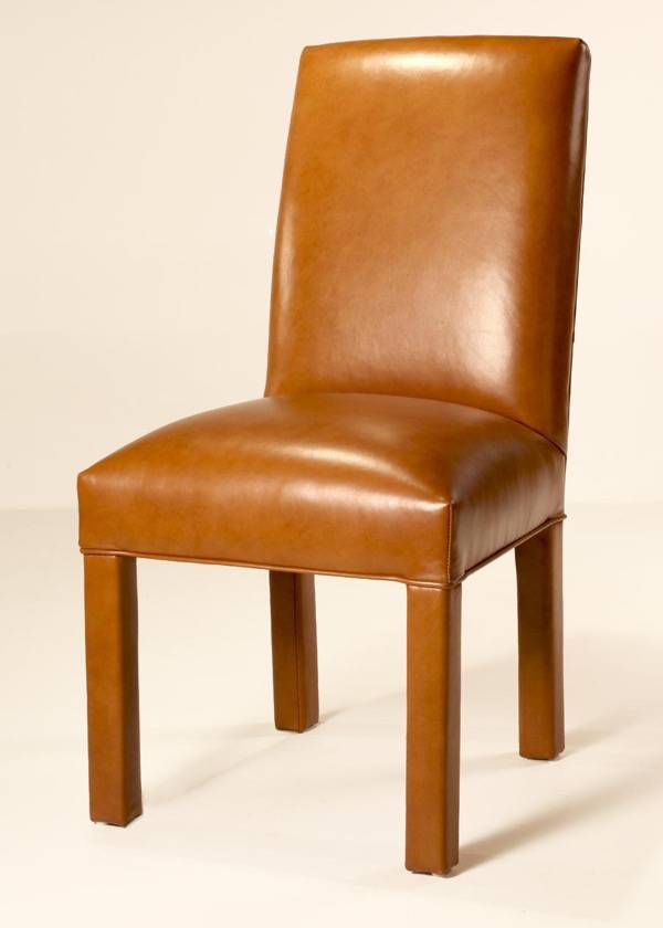 Salisbury Leather Parsons Chair