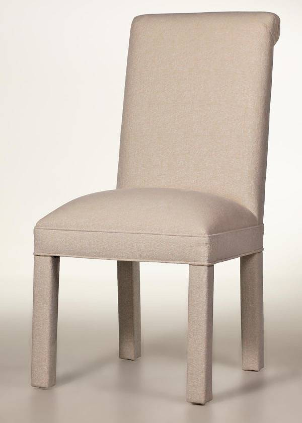 Scroll Back Parson Chair