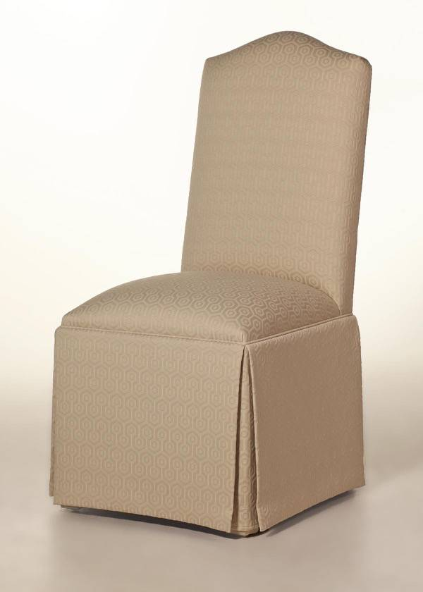 Skirted Camel Back Parson Chair Factory Direct