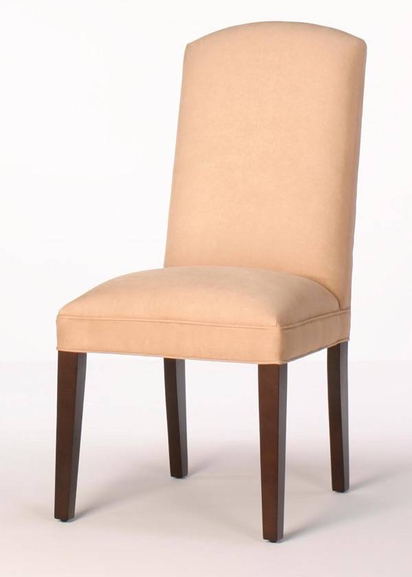 Crescent Back Dining Chair with Tapered Legs