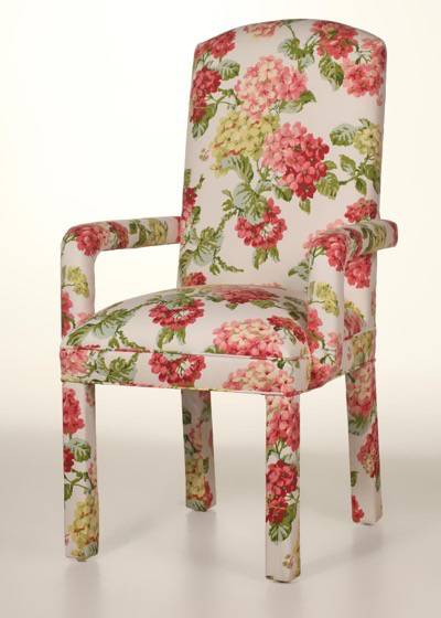 Crescent Back Parsons Arm Chair