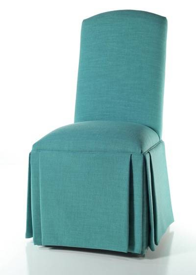 Crescent Back Parsons Chair with Triple Pleat Skirt