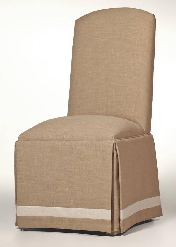 Crescent Back Parsons Chair W Banded Skirt Custom