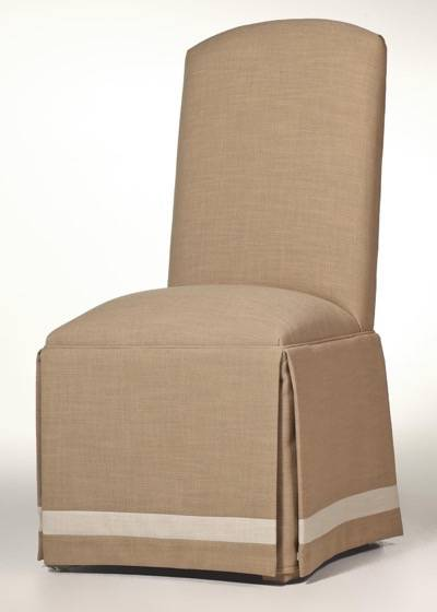 Crescent Back Parsons Chair with Banded Skirt