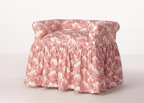 Christy Skirted Vanity Chair Customize Fabric Buy Direct