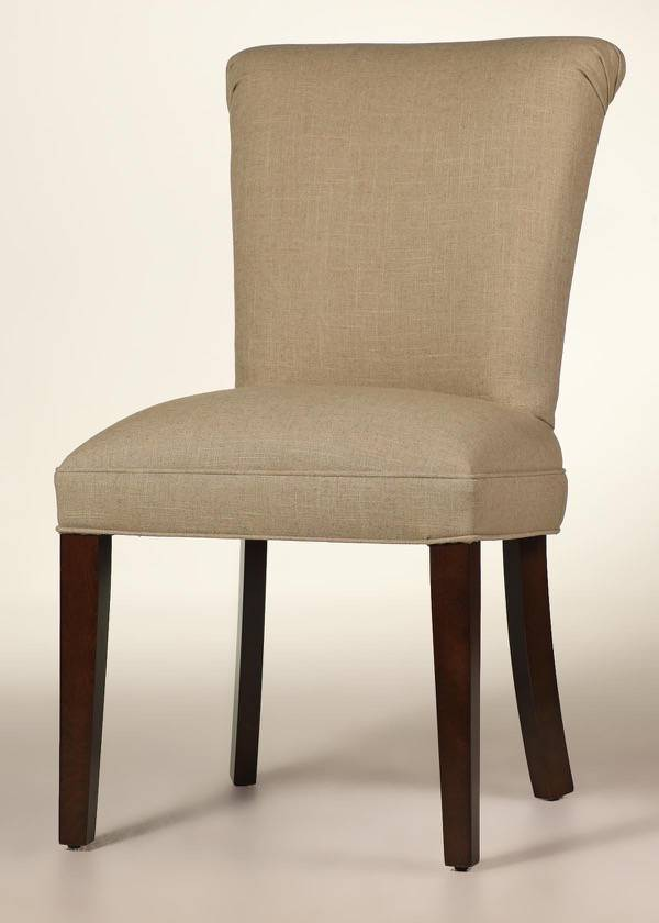 Red Leather Parsons Dining Chairs
