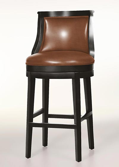 Logan Leather Swivel Bar Stool
