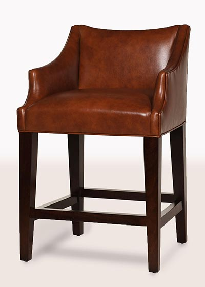 Teton Leather Counter Stool