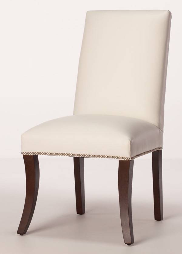 Sheffield leather parsons dining chair for Leather parsons dining chair