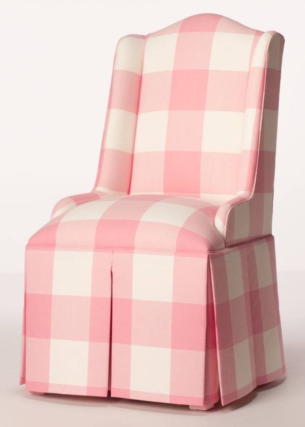 Small Wing Chair With Box Pleat Skirt