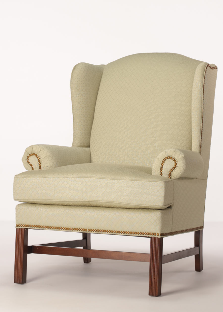 Darwin Wing Chair Chippendale Chair With Nailhead Trim