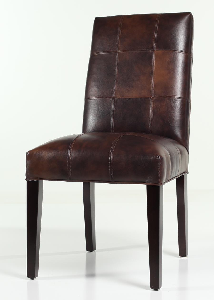Trent Leather Dining Chair Customize Color Amp Finish