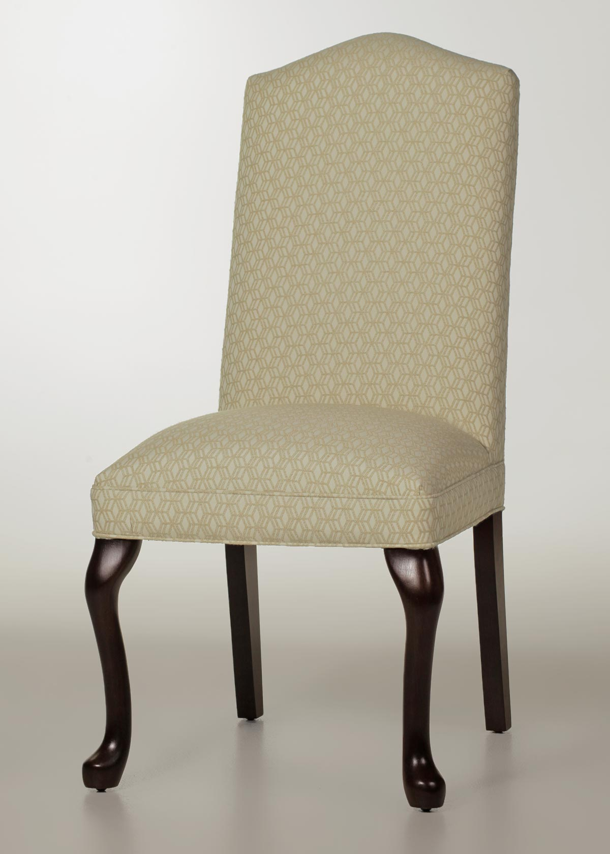 Camel Back Dining Chair With Queen Anne Legs Factory Direct