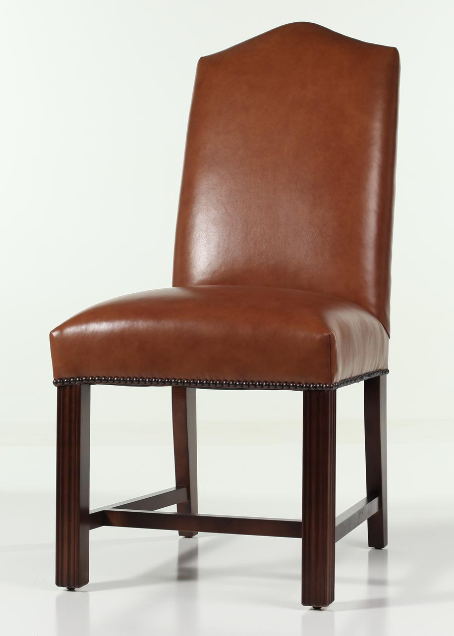 Leather Camel Back Chippendale Dining Chair with Nailhead Trim : 32S NHB BC SherwinBrownSugar XL from www.carringtoncourtdirect.com size 900 x 1260 jpeg 60kB