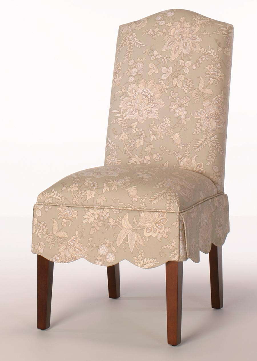 Aberdeen Parsons Dining Chair Camel Back With Scalloped