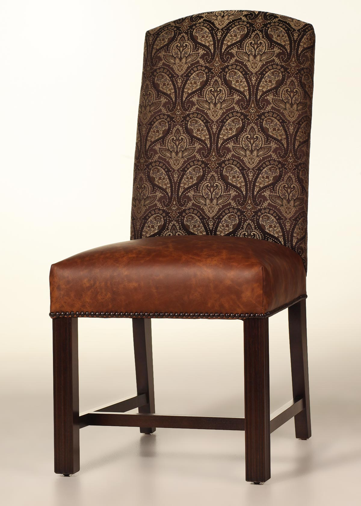 Cambridge Dining Chair With Leather Seat And Nailhead Trim