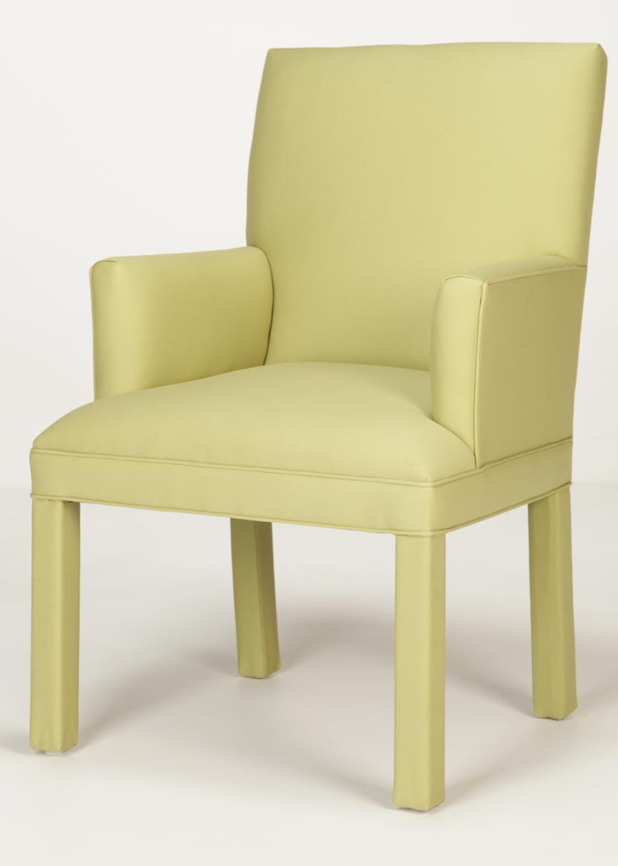 Straight Back Parsons Arm Chair Custom Made In Nc