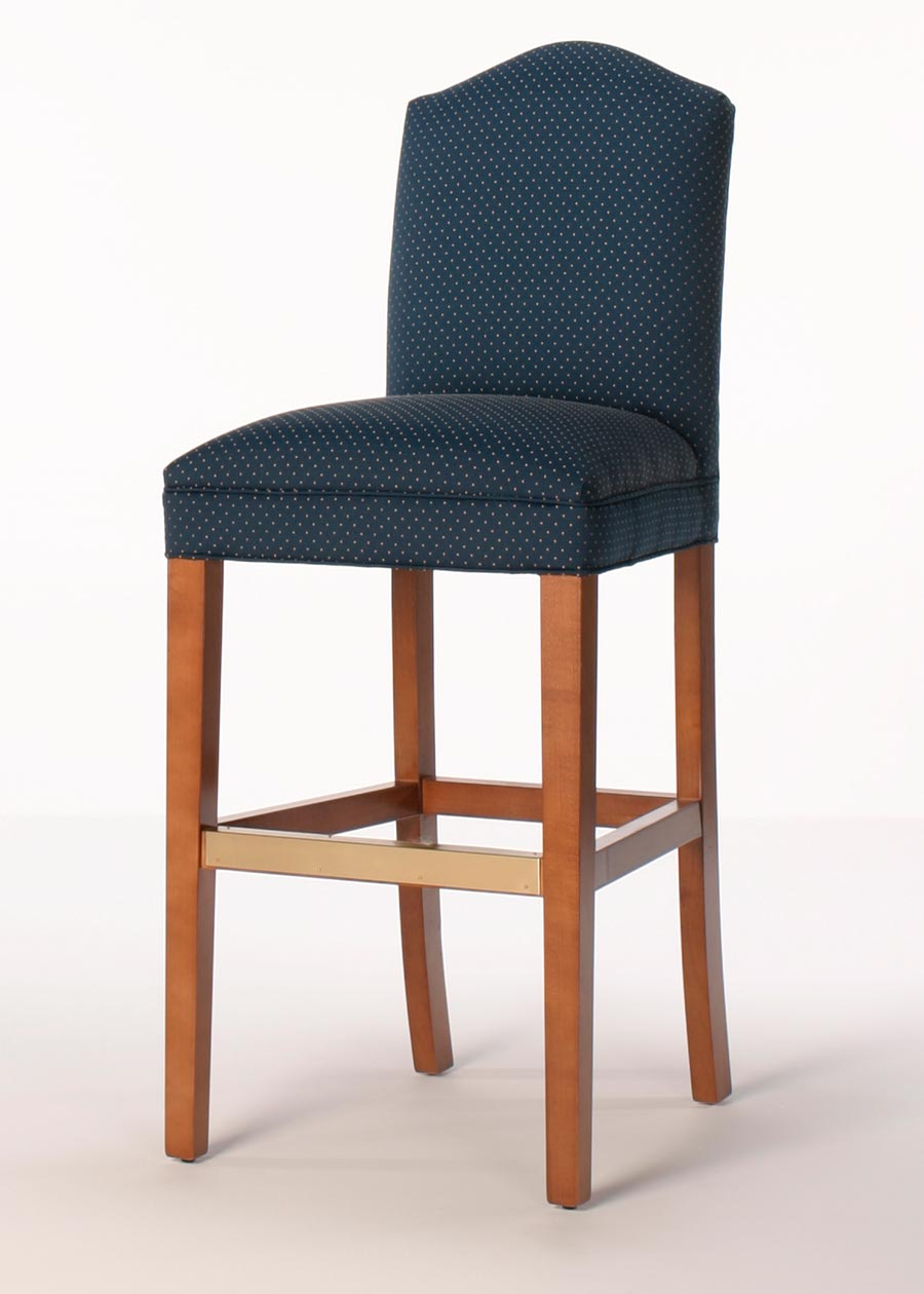 Mckinley Bar Stool Upholstered Bar Stool With Tapered Legs