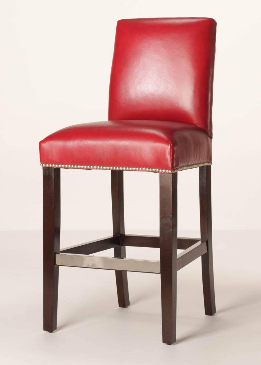 Leather Bar Stools ~ Mitchell quot leather counter stool customizable buy direct