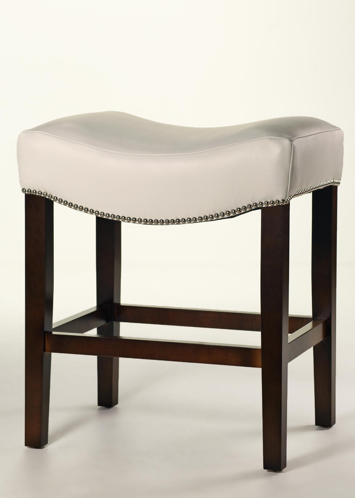 Cody Saddle Stool Custom Leather Counter Finish Trim