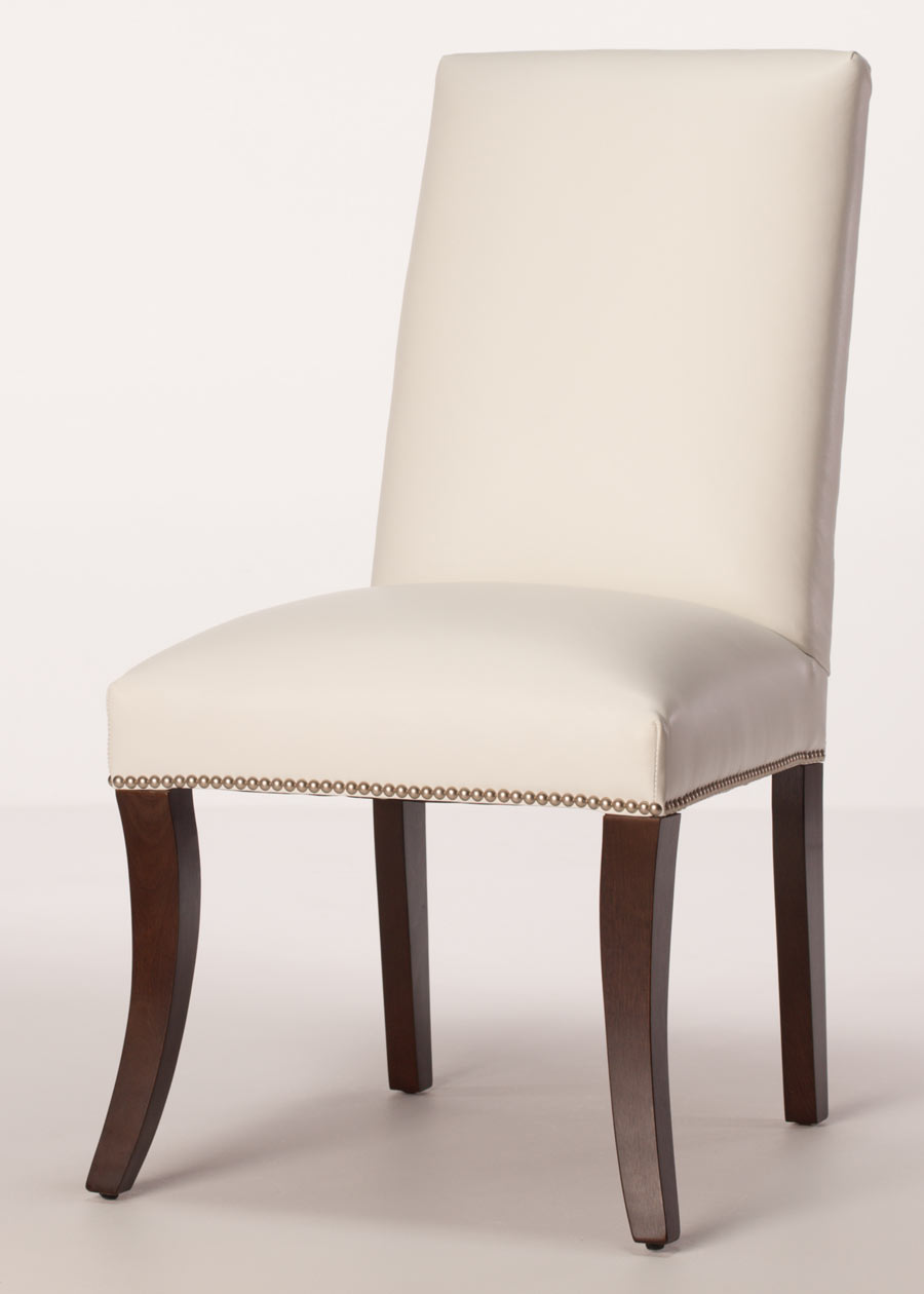 Sheffield leather parsons dining chair - Leather parsons dining room chairs ...