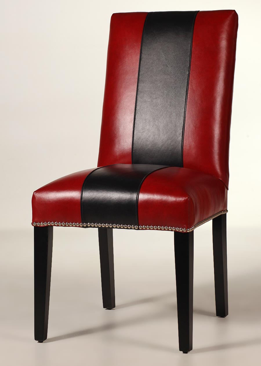 Blackburn Leather Side Chair Contemporary Dining Chair