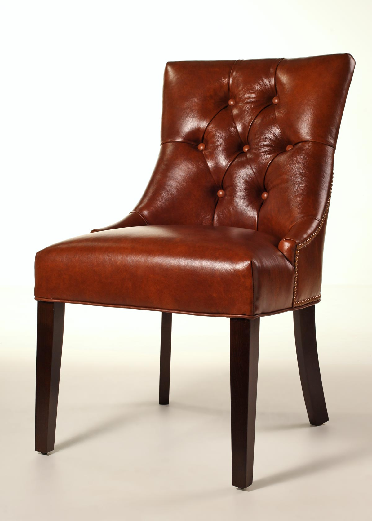 fenwick leather dining chair. Black Bedroom Furniture Sets. Home Design Ideas