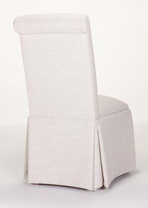 Custom Chairs Delivered In Days Scroll Back Parson Chair