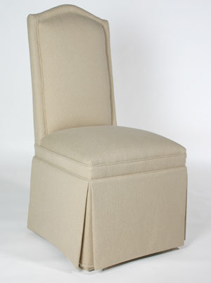 Camel Back Parsons Chair W Inset Border Customize