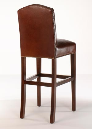 Rushmore leather bar stool customize leather finish trim buy direct - Leather bar stools with nailhead trim ...