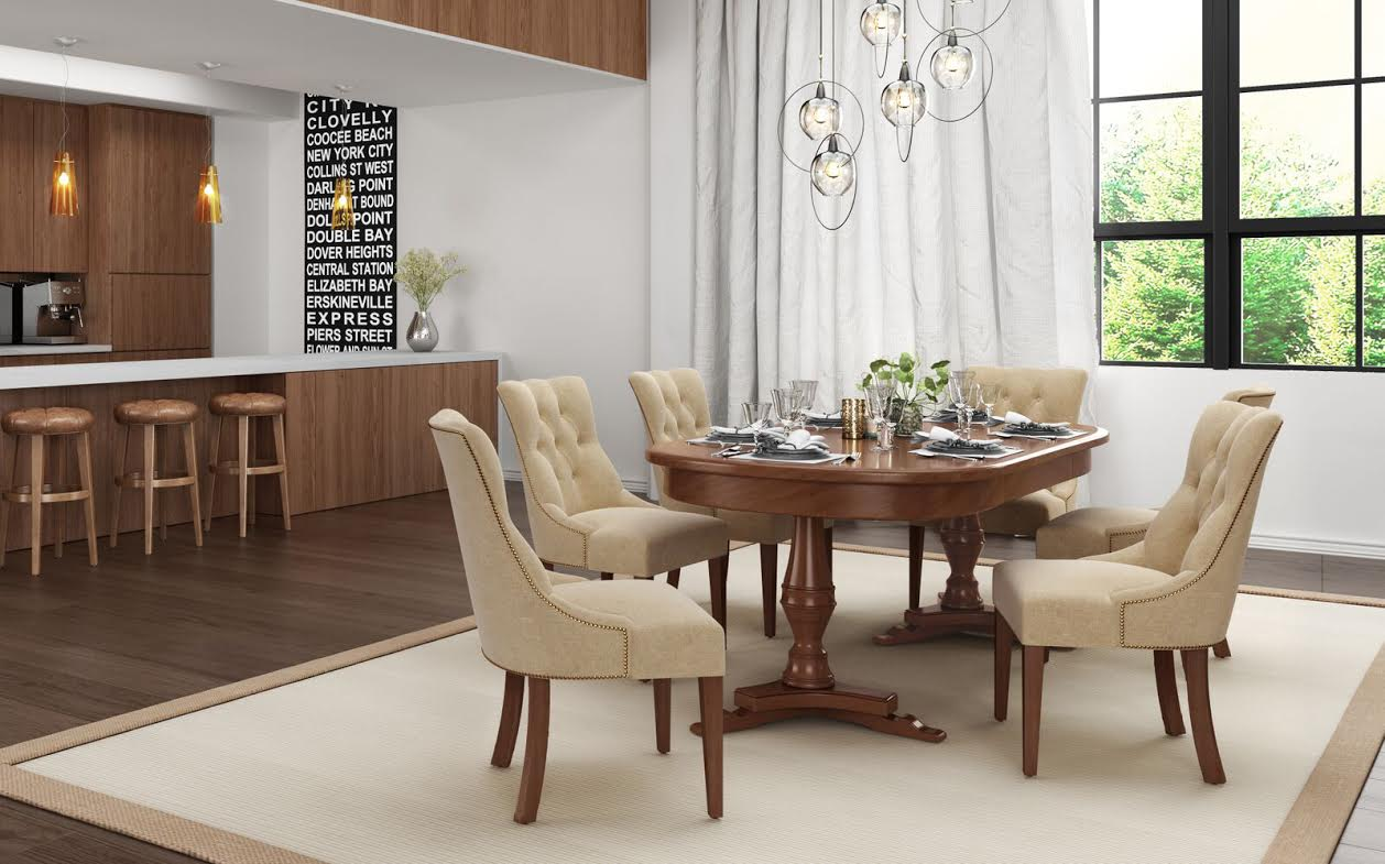 Fenwick Chairs in modern dining room