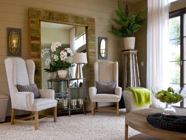Use Wing Chairs As Borders