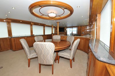 Dining Salon on an 103' Cheoy Lee Yacht